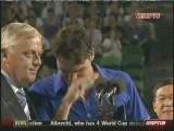Federer crying during 2009 AO