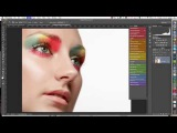 Beauty portrait retouching with frequency separation timelapse\\8шщ