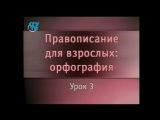 Русский язык. Урок 3. Правописание гласных и согласных букв в корне