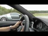 Uncut: BMW M3 F80 DKG vs Audi R8 4,2 6-speed manual filmed from BMW M3