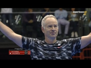 2014 MATCH legends John Mcenroe vs Michael Chang Highlights [HD 720p]