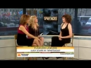 !LUCY LAWLESS TAKES ON LUCRETIA INTERVIEW! ( AND SAND)