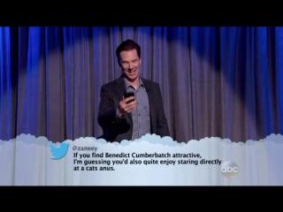 Jeff Bridges, Kristen Bell And Benedict Cumberbatch Read Mean Tweets On 'Kimmel'