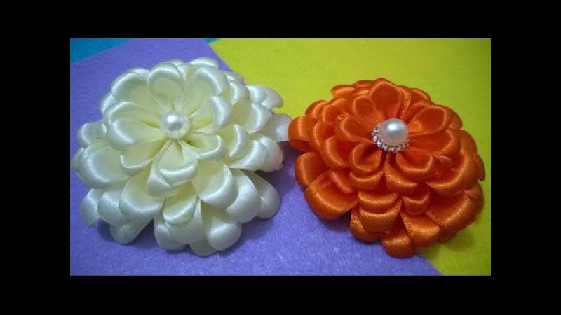 D.I.Y. Satin Zinnia Flower - Tutorial   MyInDulzens