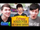 EXTREME MAKEOVER DIL'S HOME EDITION - Dan and Phil Play Sims 4 13