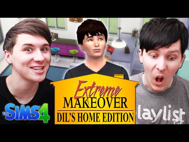 EXTREME MAKEOVER DIL'S HOME EDITION - Dan and Phil Play: Sims 4 13