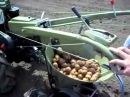 Дизельный мотоблок Shtenli G-180 работа с картофелесажалкой