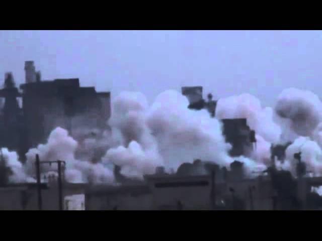 25 10 2015 Сирия От попадания снаряда детонируют боеприпасы ИГИЛ