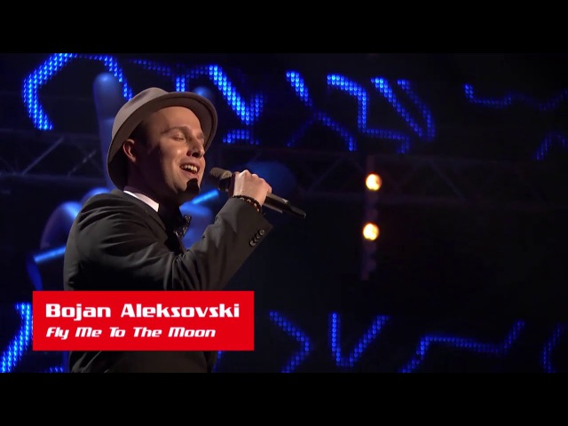 Bojan Aleksovski: Fly Me To The Moon - The Voice of Croatia - Season 1 - Blind Auditions 1