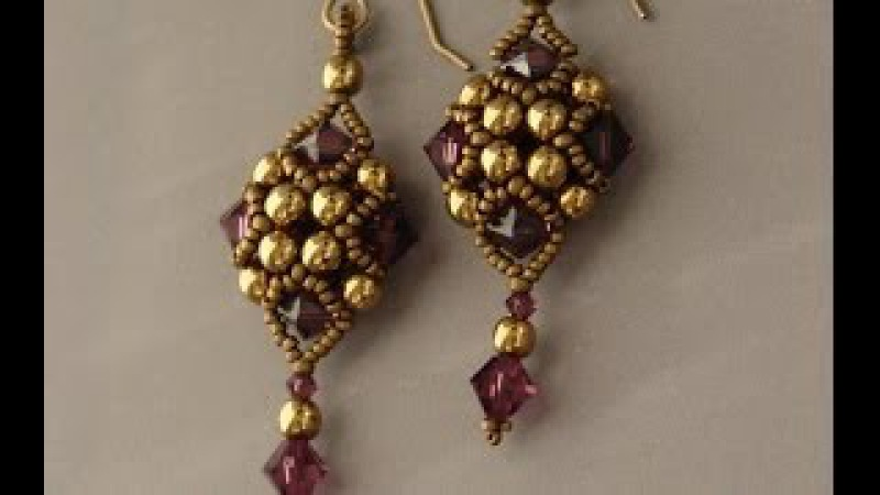 Sidonias handmade jewelry - Beaded Art Deco Style Earrings