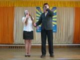 Аня Жерновкова и Владимир Макаров  на конкурсе военной песни