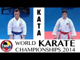 MARTIN ABELLO vs AFSANEH. Female Kata. Bronze Medal. 2014 World Karate Championships