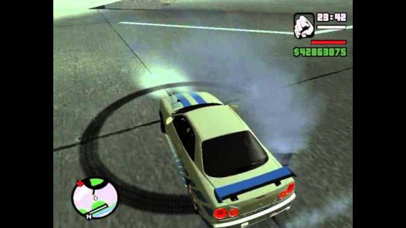 Nissan skyline R34 in GTA San Andreas(Part 2) | Ниссан Скайлайн Р34 в ГТА Сан Андреас(Часть 2)