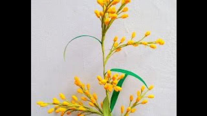 How to make Paper flowers Acacia / Mimosa (Flower 58) » Freewka.com - Смотреть онлайн в хорощем качестве