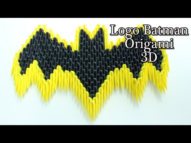 Escudo De Batman Origami 3D TUTORIAL