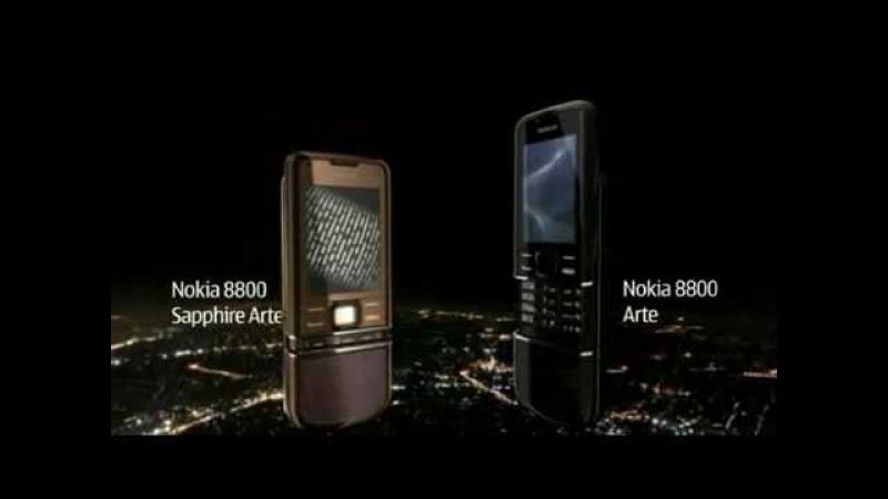 NOKIA 8800 ARTE LUXURY CELL PHONE PROMO COMMERCIAL ADVERTISEMENT DEMO AD