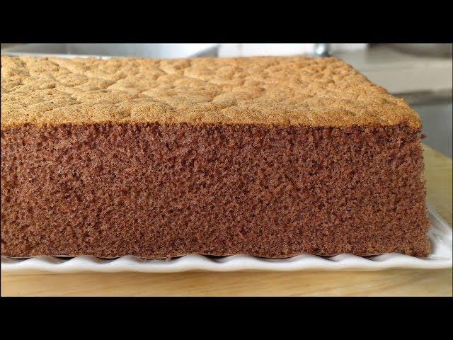 Fluffy Chocolate Sponge Cake 巧克力海绵蛋糕 **