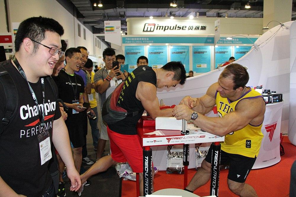 Denis Cyplenkov at FIBO China 2015 │ Photo Source: Fitness Energy, фитнес-клуб в Орле