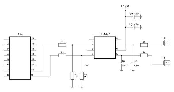Ir4427 схема включения