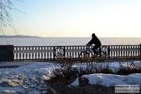 28  марта 2015 - Набережная 8 квартала Тольятти в снегу