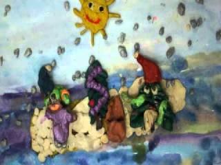 """2015. Пластилиновый мультфильм """"Новогодняя путаница"""""""