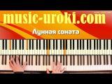 Бетховен Лунная соната  Beethoven Moonlight (piano cover + tutorial + ноты)
