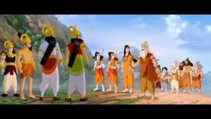 Сыновья Рамы - Лав и Куш - близнецы-воины.