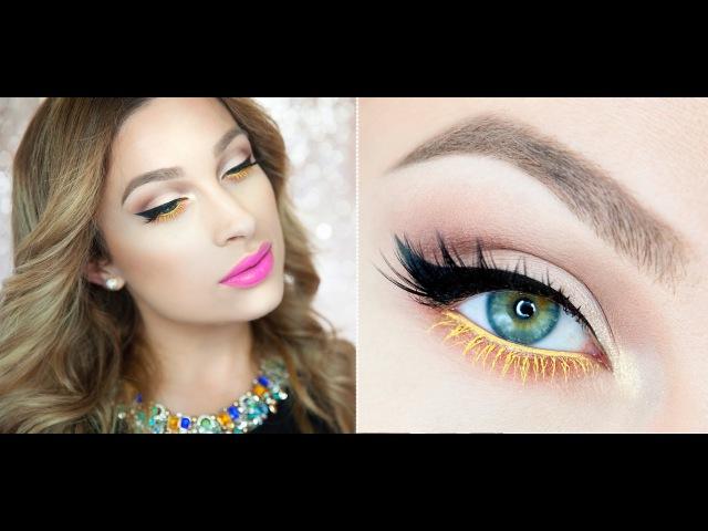 • Makijaż na lato - żółte rzęsy i fioletowe usta || KATOSU •