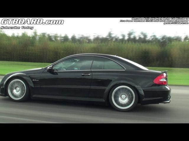 Mercedes CLK63 AMG Black Series Kompressor vs Mercedes SL65 AMG Black Series V12 BiTurbo
