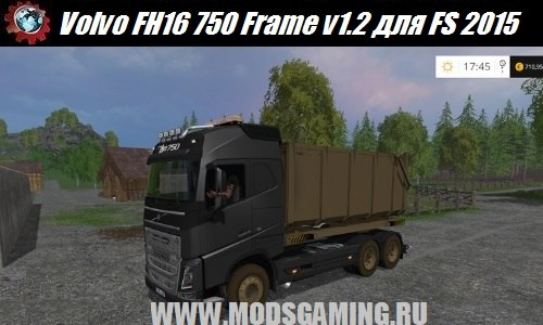 Farming Simulator 2015 download mod truck Volvo FH16 750 Frame v1.2