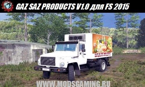 Farming Simulator 2015 download mod truck GAZ SAZ 35071 PRODUCTS V1.0
