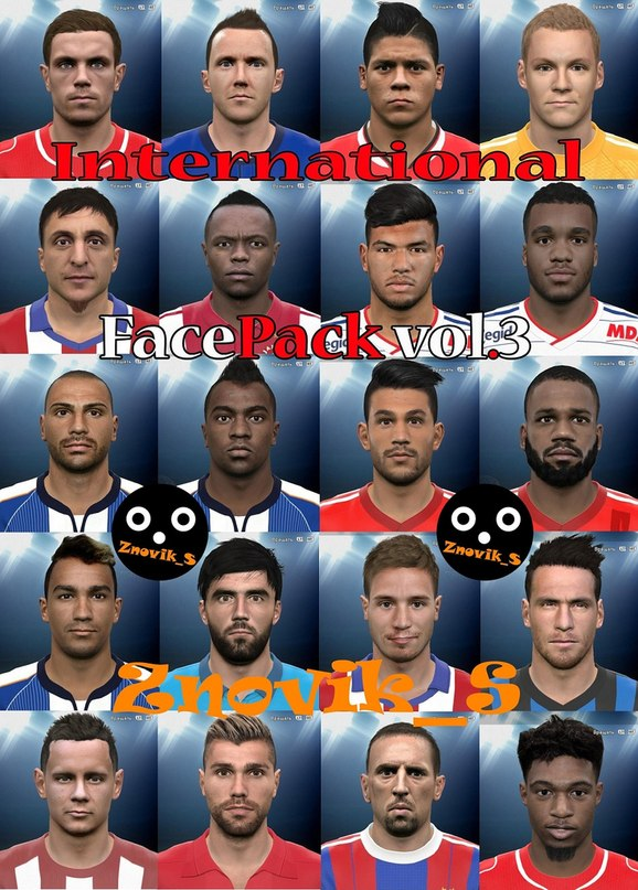 PES 2015 International FacePack vol.3 by Zvonik_S