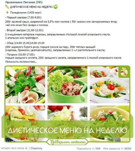 Рецепты правильного питания для похудения с калорийностью и фото