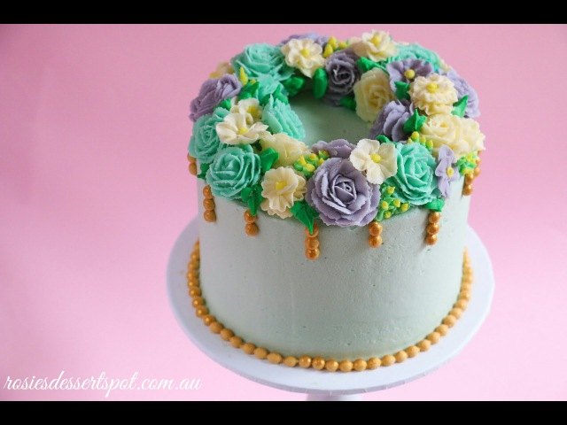 Floral Wreath Cake Tutorial Rosie's Dessert Spot