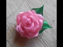 Цветы из ткани Как сделать розу из атласной ленты DIY Rose