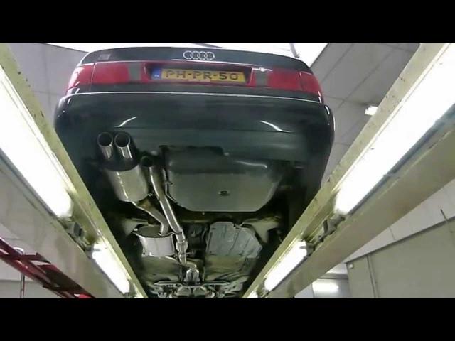Audi S6 Plus C4 maatwerk RVS uitlaatsysteem met klep van EPS Uitlaten BV