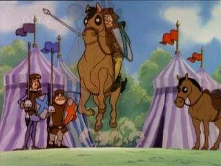 Приключения мишек Гамми (Adventures of the Gummi Bears) - Добрый сосед гамми + Девушка - рыцарь (4 Сезон, 8 Серия)