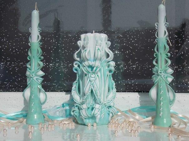 Резные свечи изготовлены вручную. (5 фото) - картинка