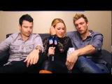 Nick Carter and Jordan Knight talk 'Magic Mike,' dance, husband-squatting wife
