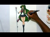how to draw sailor pluto from sailor moon crystal