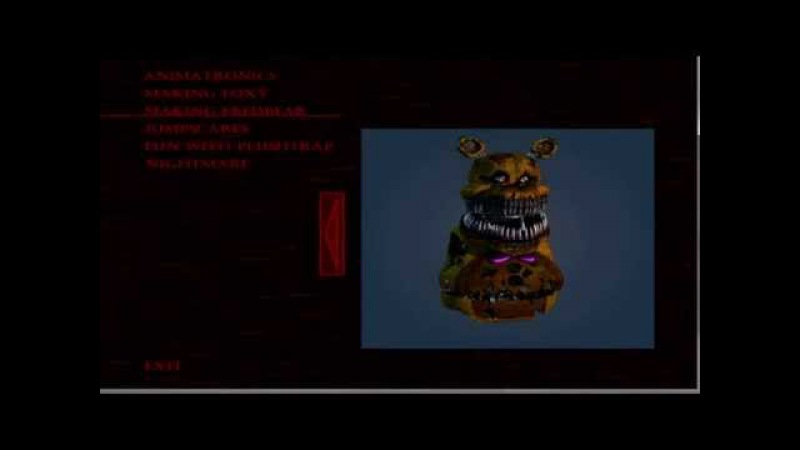 Making Fredbear on Extra Menu - Five Nights at Freddy's 4: The Final Chapter