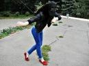 Русская девушка танцует лезгинку 2014