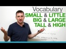 6 confusing words small little big large tall high