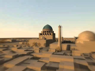 Ancient Merv/Merw city reconstruction Древний Мерв