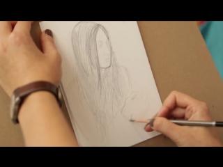 Учимся рисовать карандашом портрет поэтапно. Уроки рисования.