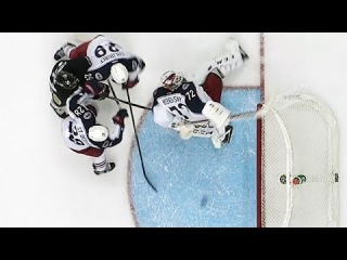 Bobrovsky robs Comeau with back of stick