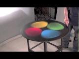 Метаморфозы цветного песка под воздействием звуковых вибраций