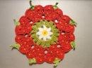 Салфетка КЛУБНИЧКИ Napkin strawberries Crochet