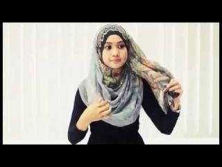 Shawl Tutorial Hijab 2