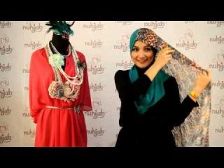 Tutorial Hijab SSB (Shawl Sifon Brukat) Tribal - Tosca ala Nuhijab #10